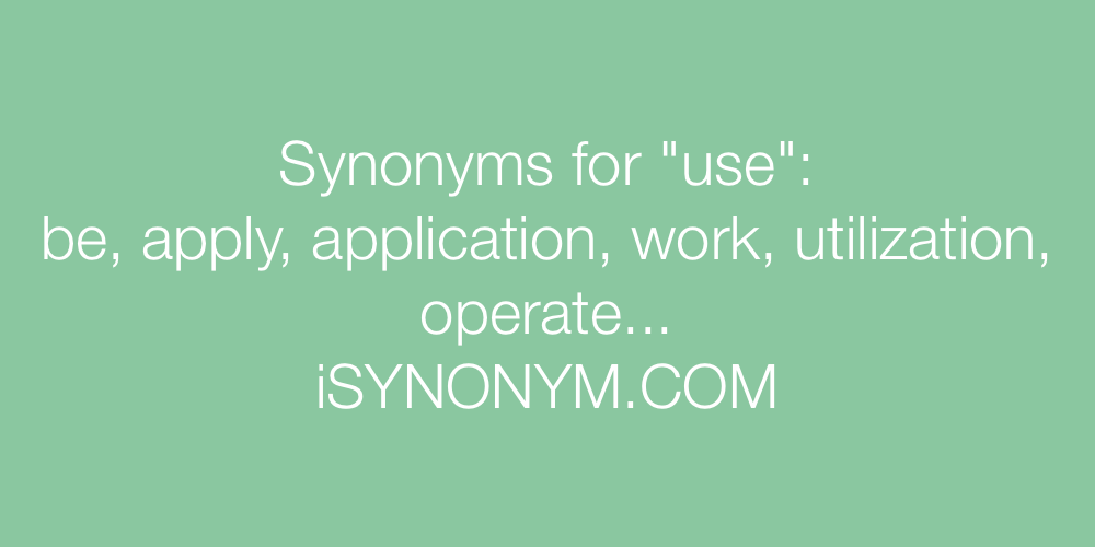 Synonyms use
