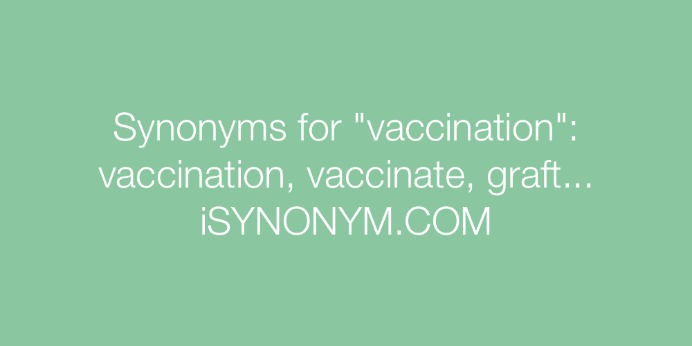 Synonyms vaccination