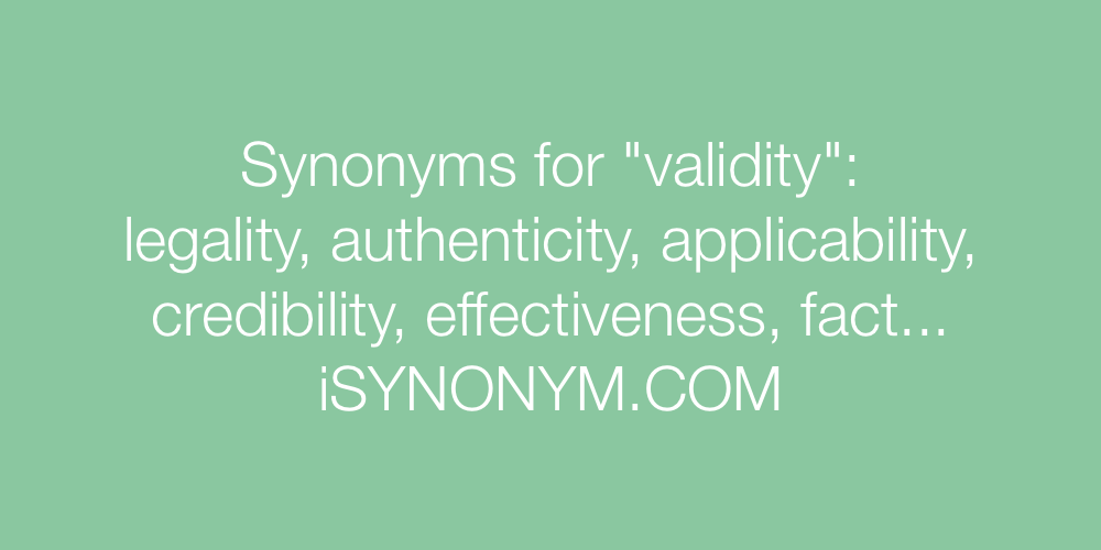 Synonyms validity