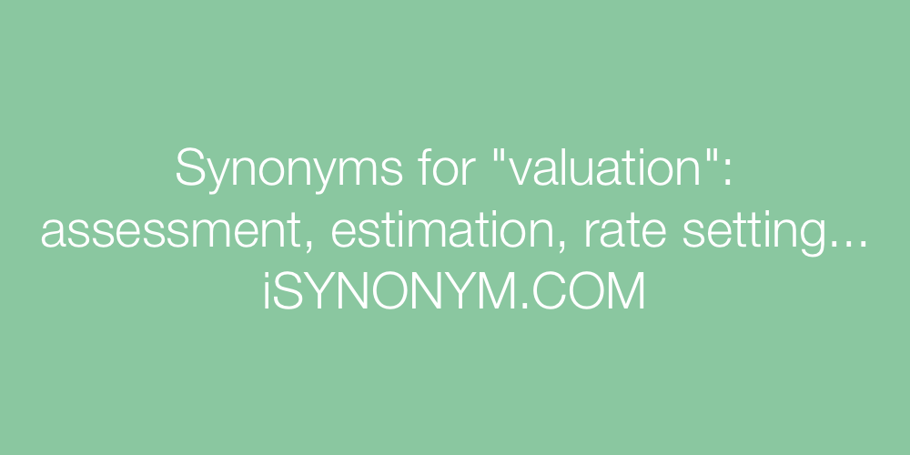 Synonyms valuation