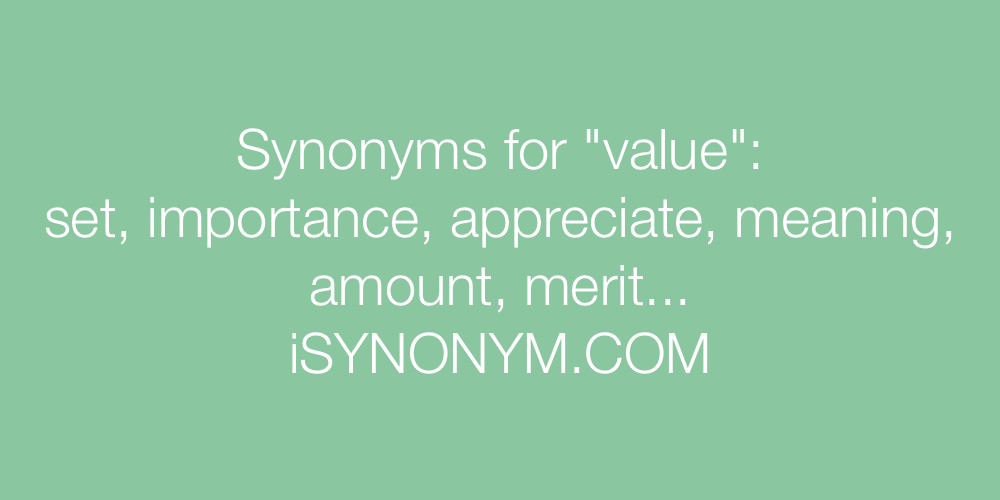 Synonyms value
