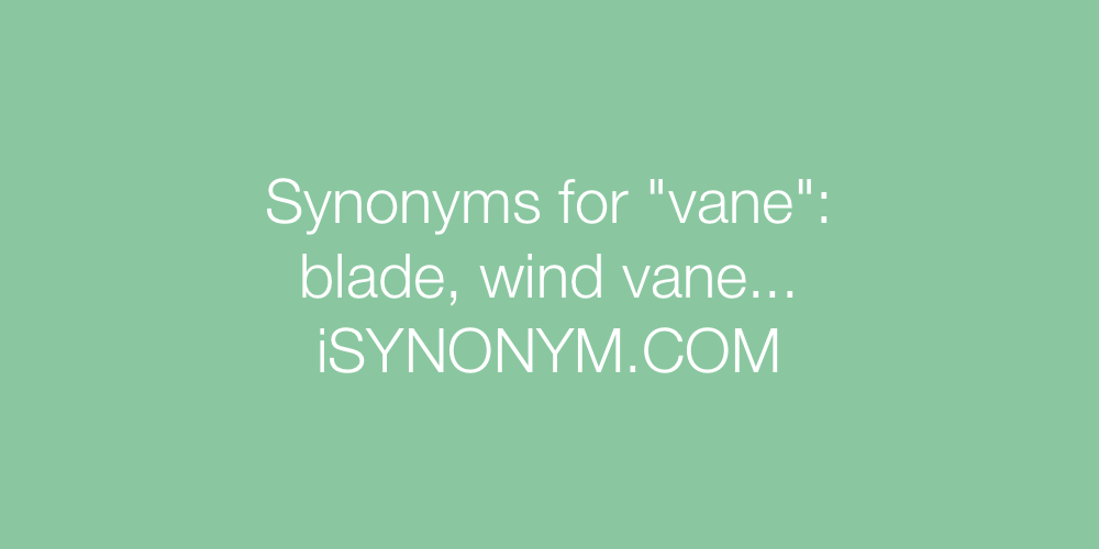Synonyms vane