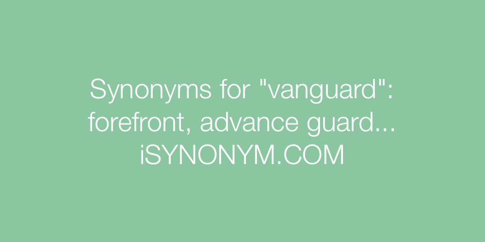 Synonyms vanguard