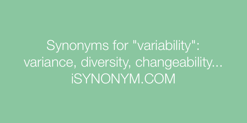 Synonyms variability