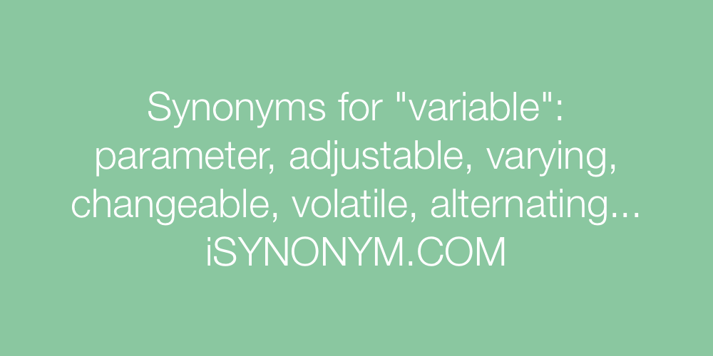 Synonyms variable