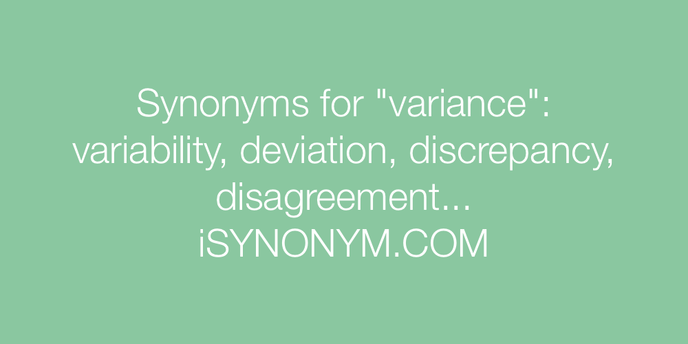 Synonyms variance