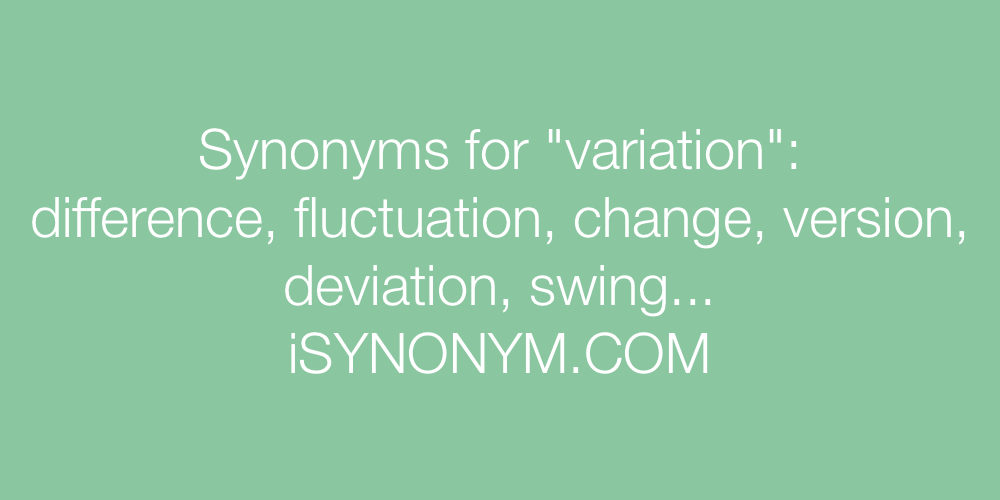 Synonyms variation