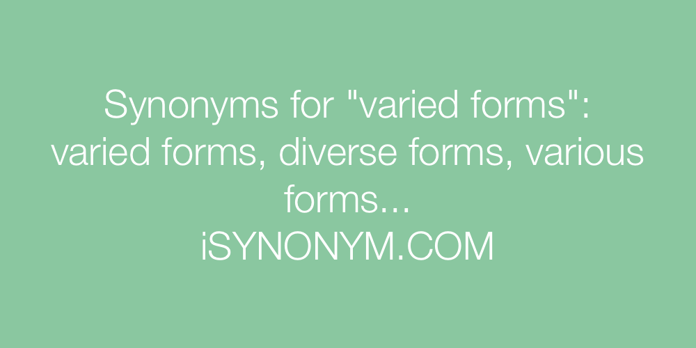 Synonyms varied forms