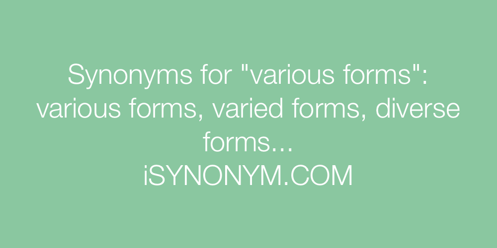 Synonyms various forms