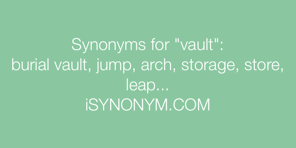 Synonyms vault