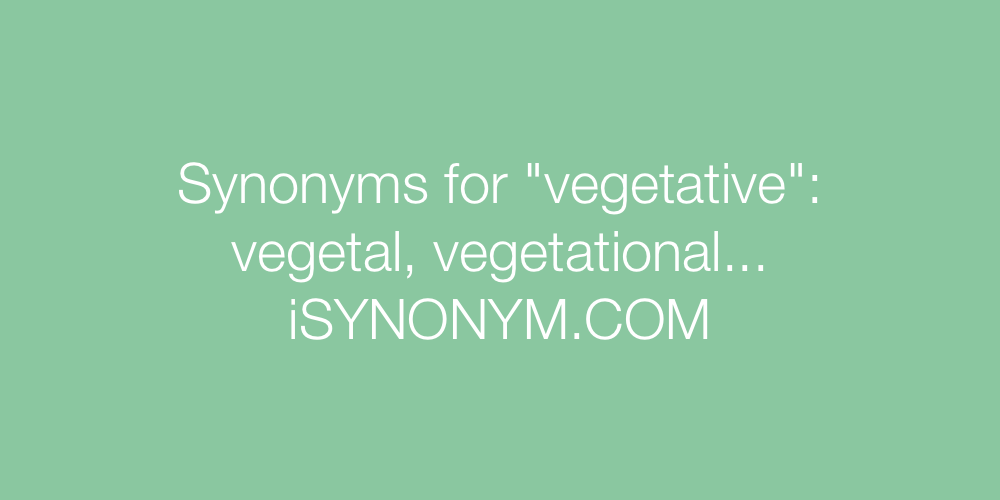 Synonyms vegetative