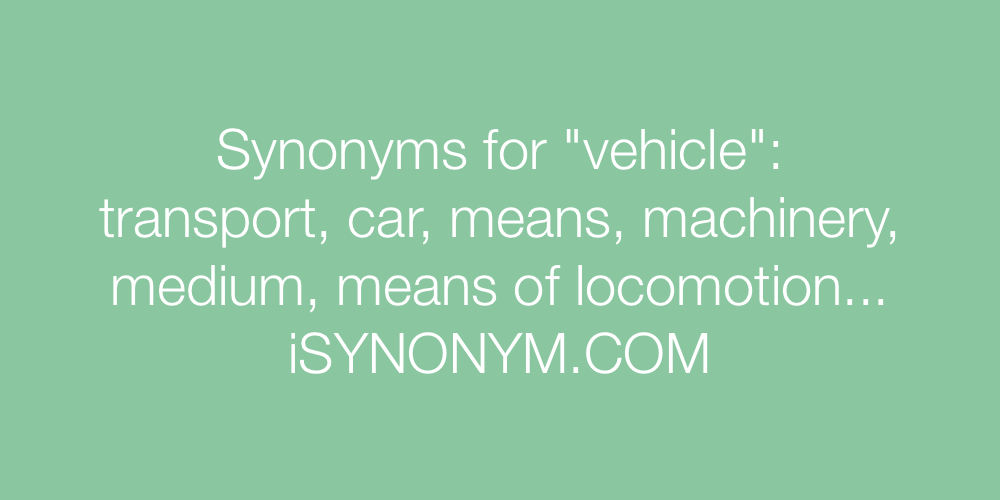 Synonyms vehicle
