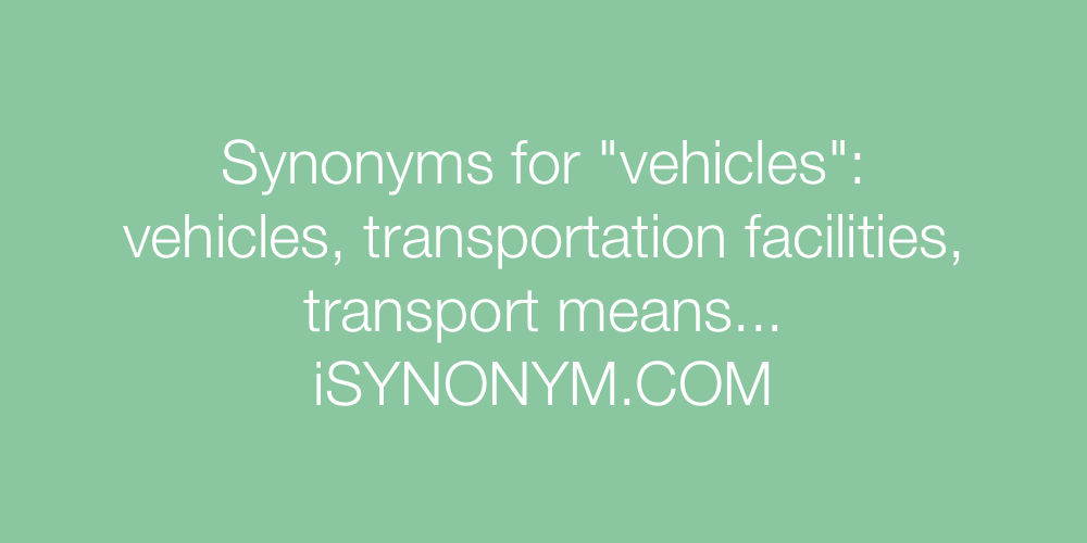 Synonyms vehicles