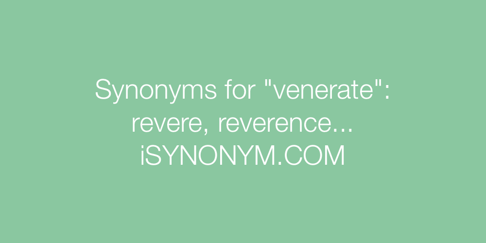 Synonyms venerate