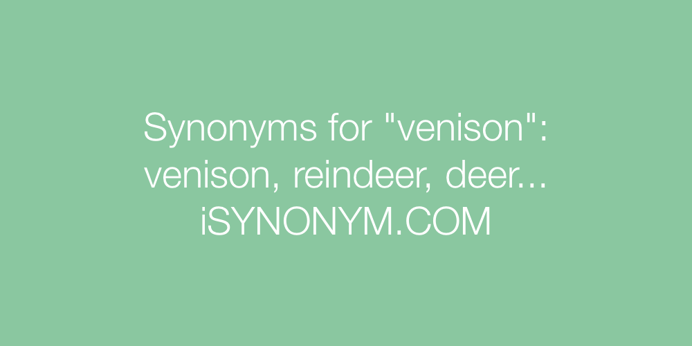 Synonyms venison
