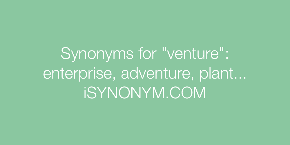 Synonyms venture