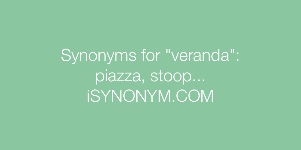 Synonyms veranda