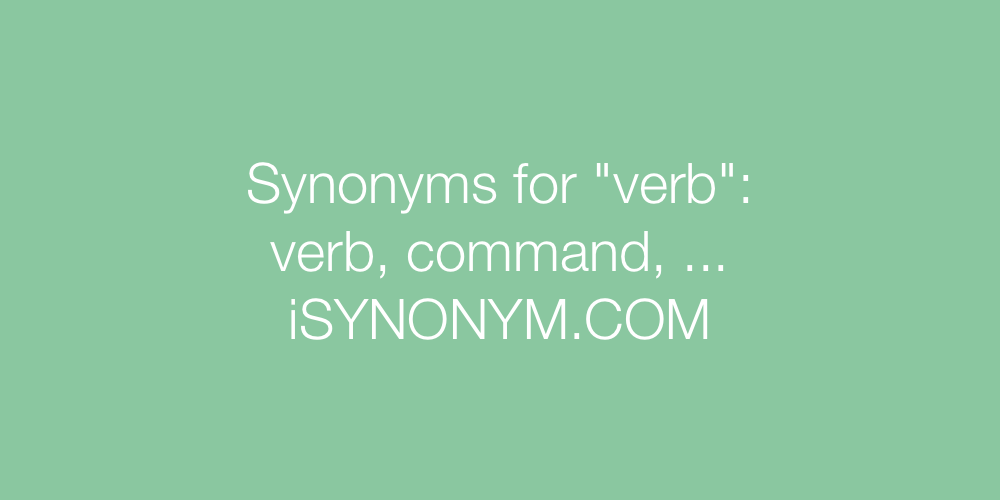 Synonyms verb