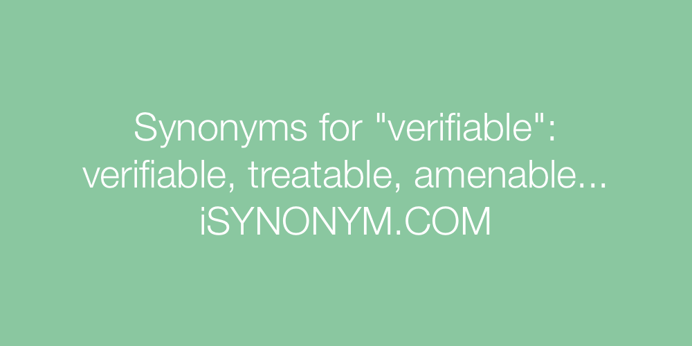 Synonyms verifiable