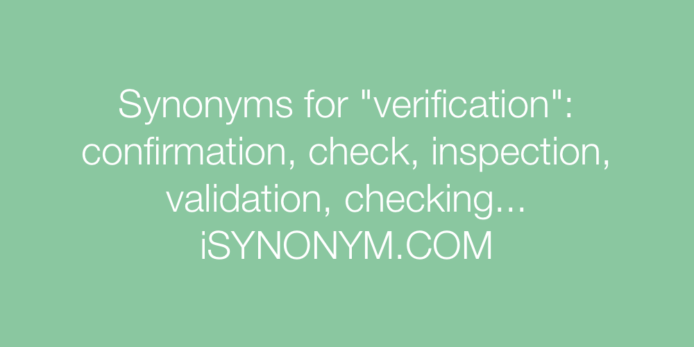 Synonyms verification