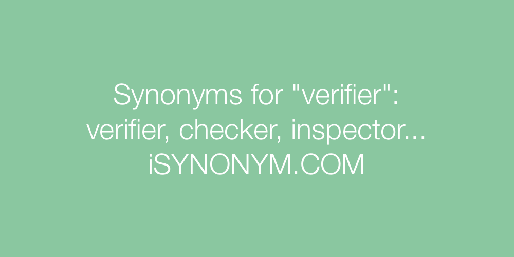 Synonyms verifier