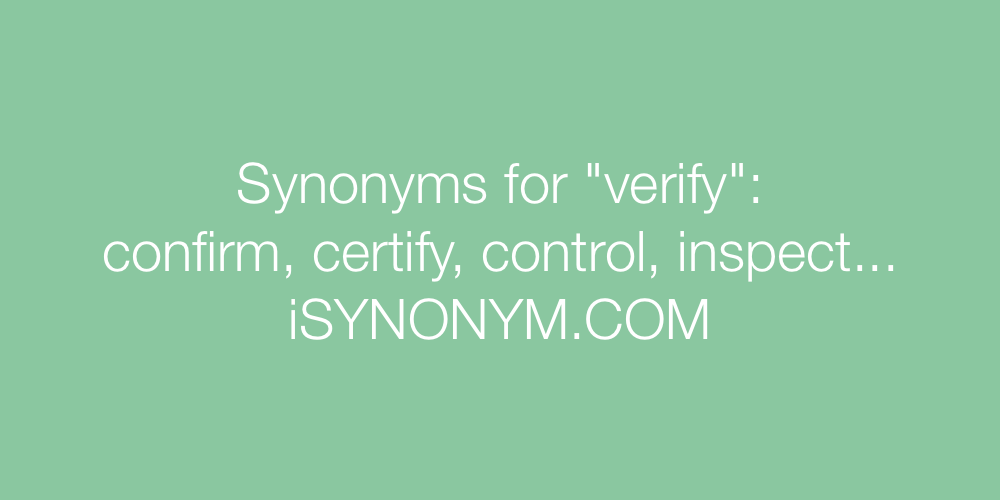 Synonyms verify