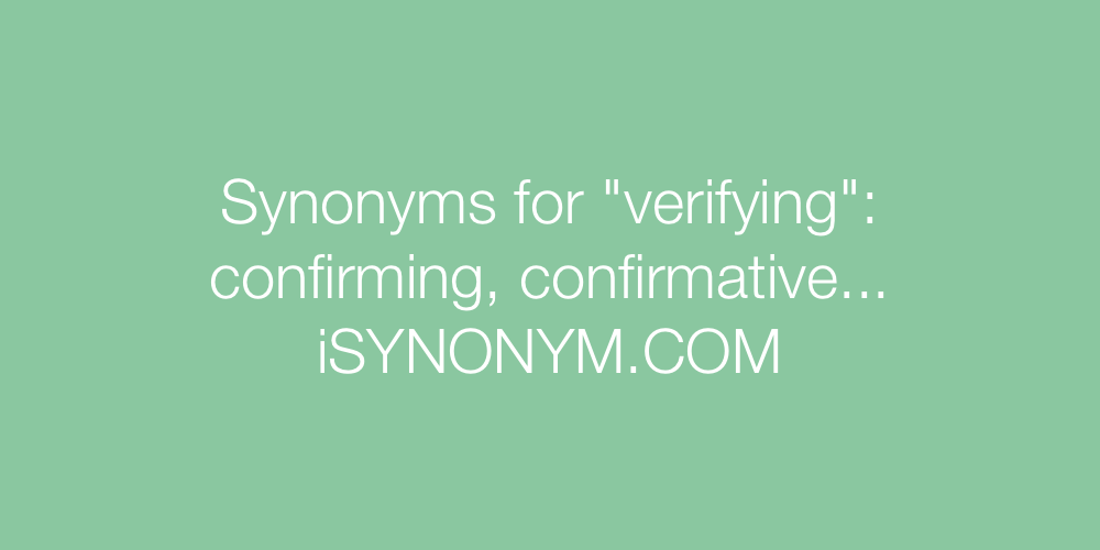 Synonyms verifying