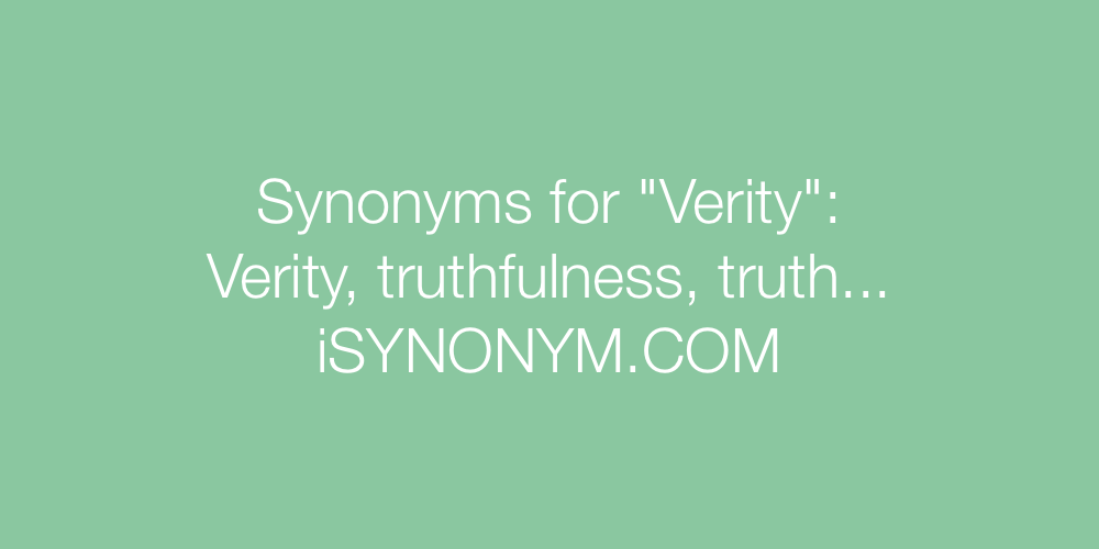 Synonyms Verity