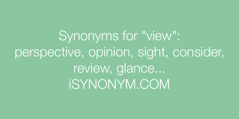 Synonyms view