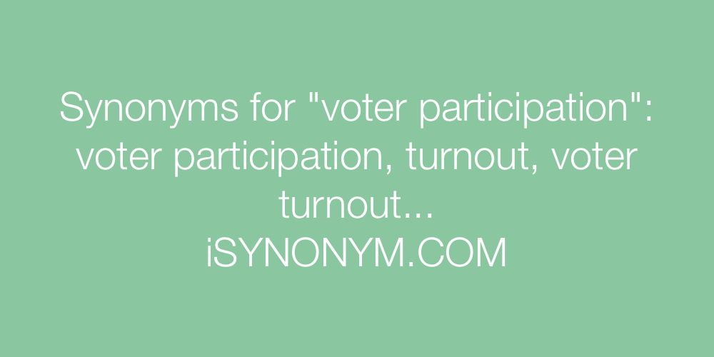 Synonyms voter participation