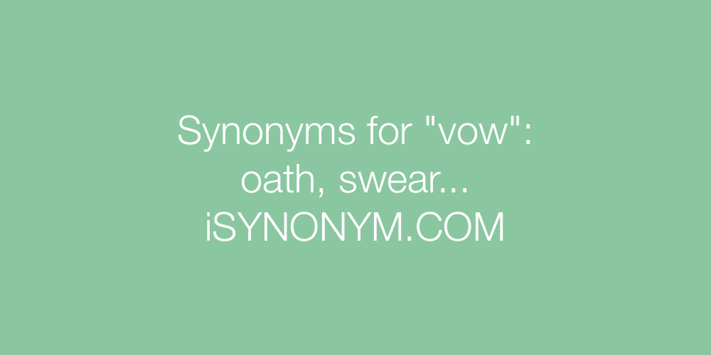 Synonyms vow