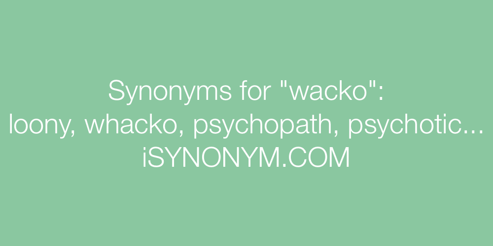 Synonyms wacko