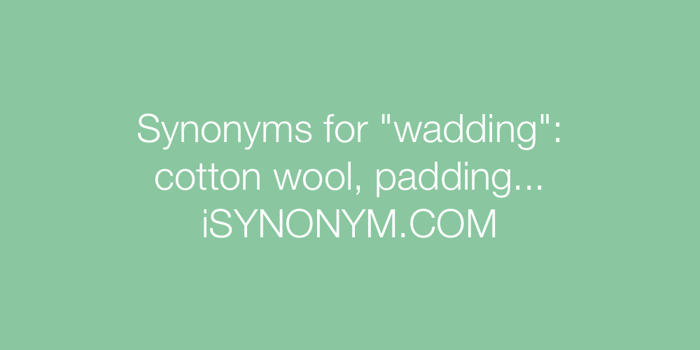 Synonyms wadding