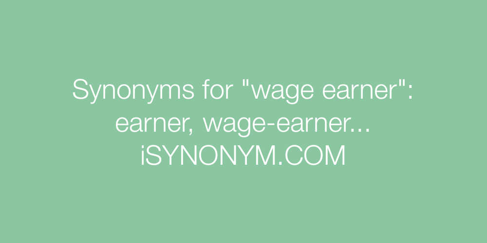 Synonyms wage earner