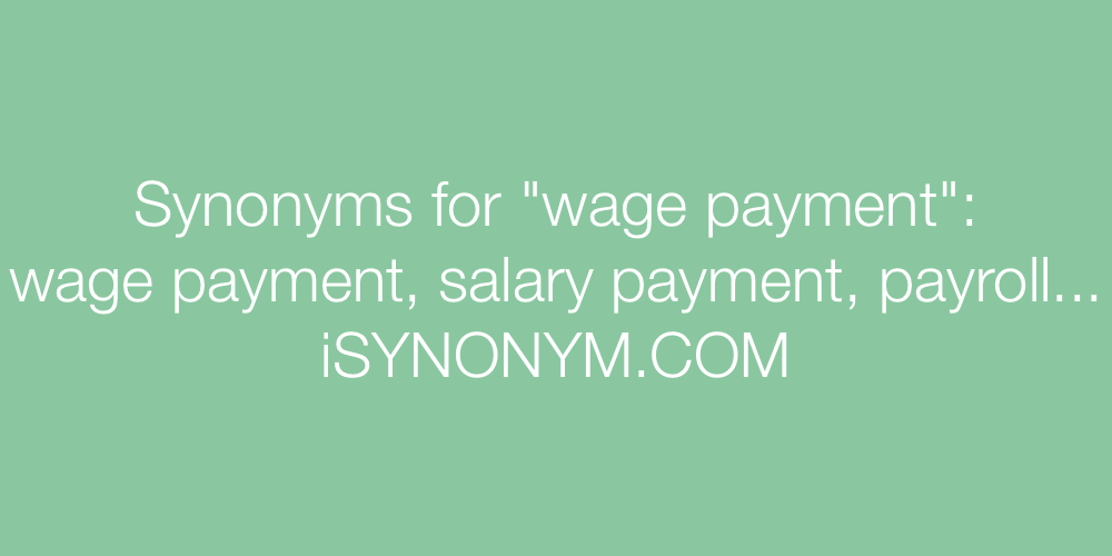 Synonyms wage payment