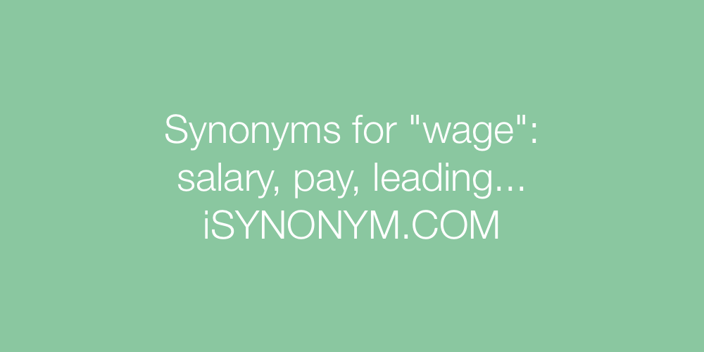 Synonyms wage