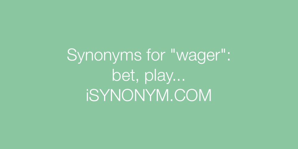 Synonyms wager