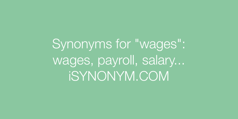 Synonyms wages