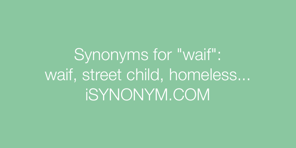 Synonyms waif