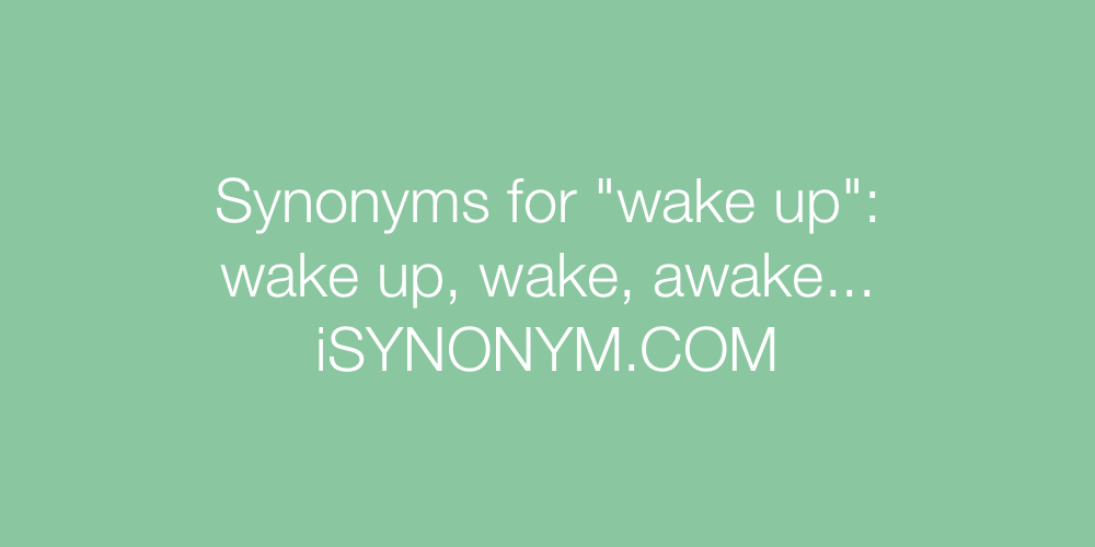 Synonyms wake up