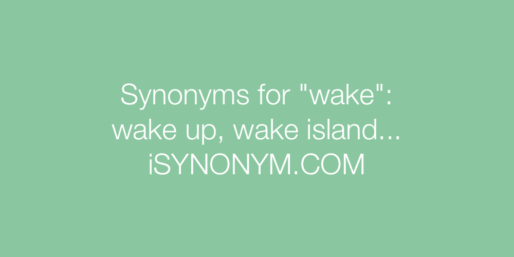 Synonyms wake