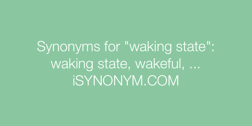 Synonyms waking state