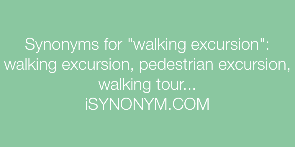 Synonyms walking excursion
