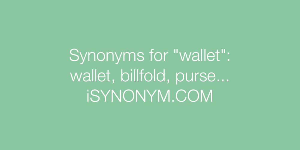 Synonyms wallet