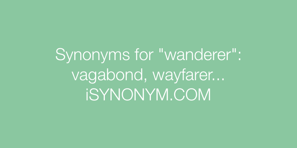 Synonyms wanderer