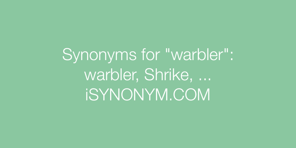 Synonyms warbler