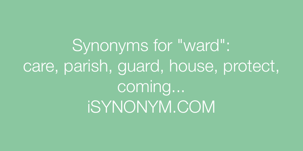 Synonyms ward