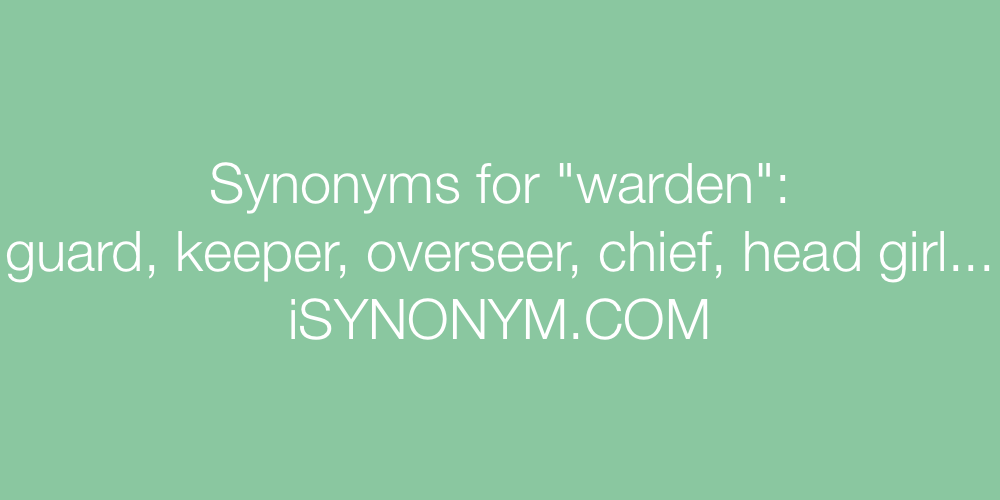 Synonyms warden