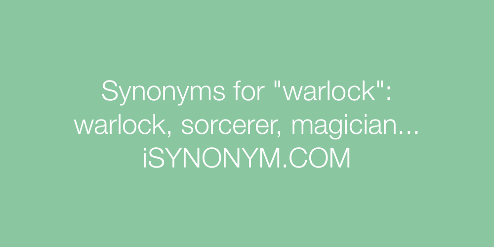 Synonyms warlock