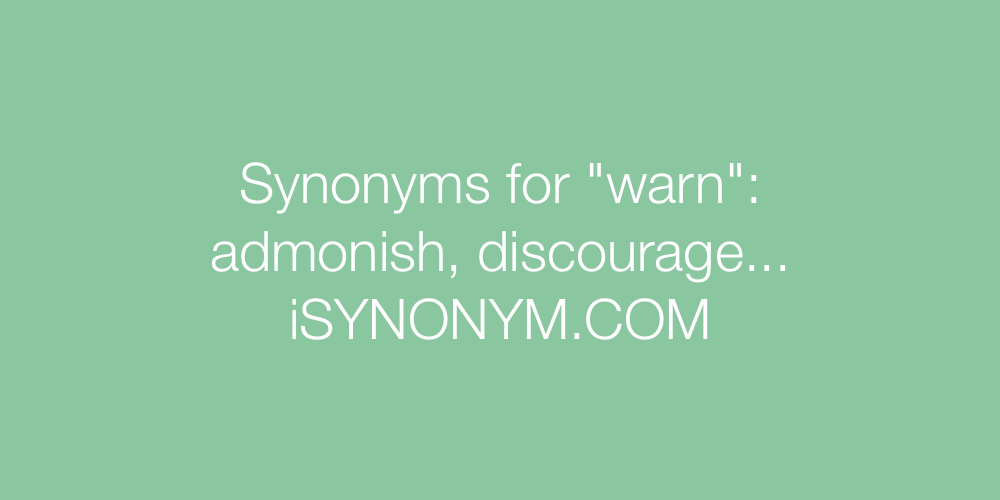 Synonyms warn